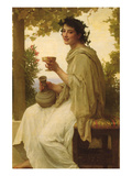 The Female Wine Enthusiast Premium Giclee Print by William Adolphe Bouguereau