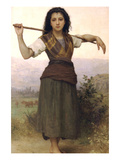 The Shepherdess Premium Giclee Print by William Adolphe Bouguereau