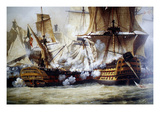 Battle of Trafalgar Print by Louis Philippe Crepin