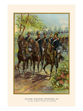 "Royal Bavarian"" Horn"" Field Artillery on the March - 2nd Regiment Prints by G. Arnold"