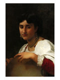 Italian Girl with a Tambourine Prints by William Adolphe Bouguereau