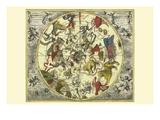 Planisphaerium Stellatum Boreale Posters by Andreas Cellarius