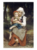 Breton Brother and Sister Prints by William Adolphe Bouguereau