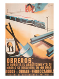 Workers - If You Will It, the Provisioning of Madrid Will Be Solved in 40 Days Print by  Cantos