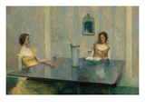 A Reading Prints by Thomas Wilmer Dewing