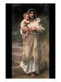 Lambs Posters by William Adolphe Bouguereau