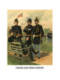 Chaplain Discussion - Print by Henry Alexander Ogden