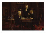 The Chess Players Posters by Thomas Cowperthwait Eakins