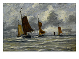 Ships at Full Sea Posters by Hendrik William Mesdag