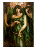 Syrian Astarte Pictured in a Trinity Prints by Dante Gabriel Rossetti