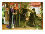 First Anniversary of the Death of Beatrice Print by Dante Gabriel Rossetti