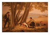 Boys Caught Napping in a Field Premium Giclee Print by William Sidney Mount