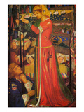 Before the Battle Premium Giclee Print by Dante Gabriel Rossetti
