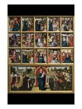 Fifteen Mysteries and the Virgin of the Rosary Giclée-Premiumdruck von Goswyn van der Weyden