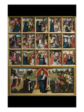 Fifteen Mysteries and the Virgin of the Rosary Premium Giclee Print by Goswyn van der Weyden