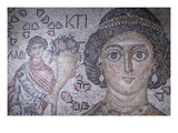Fragment of a Floor Mosaic with a Personification of Ktisis Print