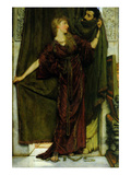 Not at Home Poster by Sir Lawrence Alma-Tadema