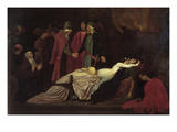The Reconciliation of the Montague's and Capulet's over the Dead Bodies of Romeo and Juliet Kunstdrucke von Frederick Leighton