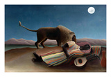 Sleeping Gypsy Prints by Henri Rousseau
