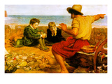 The Childhood of Raleigh Poster by John Everett Millais