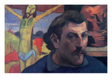Self Portrait with Yellow Christ Premium Giclee Print by Paul Gauguin