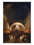 Choir of the Capuchin Church in Rome Print by Francois-Marius Granet