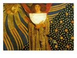 Dante's Amore Posters by Dante Gabriel Rossetti