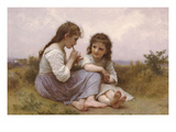 A Childhood Idyll Poster by William Adolphe Bouguereau