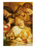 Morning Music Art by Dante Gabriel Rossetti