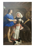 Saint Margaret of Cortona Plakater af Gaspare Traversi