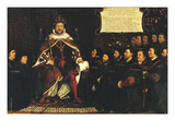 Henry Viii and the Barber Surgeons; Royal College of Surgeons Premium Giclee Print by Hans Holbein the Younger