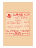 Carbolic Acid - Posion - Caution Poster