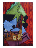 Violin and Playing Cards Prints by Juan Gris