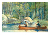 Canoe Catch Posters by William Hamilton Hope
