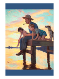 Fishing Time Posters by John Newton Howitt