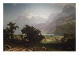 Lake Lucerne Premium Giclée-tryk af Albert Bierstadt