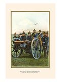 Nassau Regiment Field Artillery Firing its Cannon Print by G. Arnold
