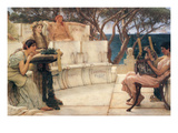 Sappho and Alcaeus Premium Giclee Print by Sir Lawrence Alma-Tadema