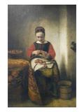 Young Girl Peeling Apples Prints by Nicholaes Maes