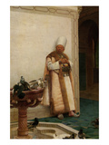Grand White Eunuch Watching Doves Print by Jean Georges Vibert