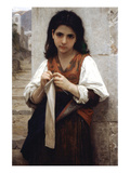 The Little Knitter Posters par William Adolphe Bouguereau