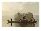 Comerciantes de pieles bajando el Missouri Láminas por George Caleb Bingham