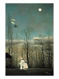 Carnival Evening Poster par Henri Rousseau