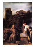 Christ and the Woman of Samaria Prints by  Rembrandt van Rijn
