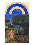 Le Tres Riches Heures Du Duc De Berry - November Print by Paul Herman & Jean Limbourg