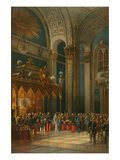 Prayer During the Coronation of Alexander II Prints by Vasily Timm