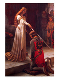 L&#39;accolade Affiches par Edmund Blair Leighton