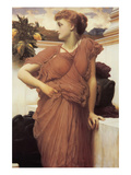 At the Fountain Poster by Frederick Leighton