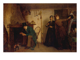 The New Bonnet Affiches par Eastman Johnson