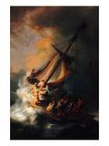 Christ in the Storm on the Lake Genezareth Plakater af Rembrandt van Rijn